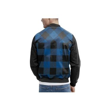 Jaqueta Bomber Chess Clothing Xadrez Azul