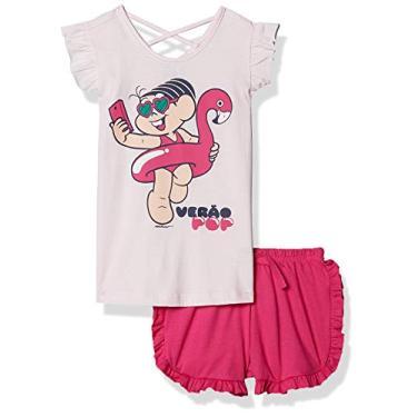 Pijama Infantil Femininio Turma Da Mônica Tam.08