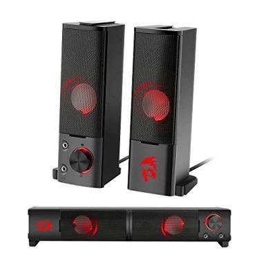 Imagem de Caixa de Som Soundbar Gamer Redragon Orpheus Stéreo 2.0 6W P2 LED Vermelho - GS550