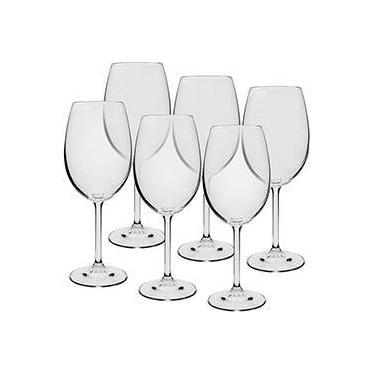 c70063522 Jogo de 6 Taças Cristal Bohemia para Vinho Tinto 450ml