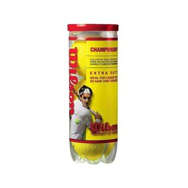 d513ff99fa Bola De Tenis Wilson Championship - Pack 03 Bolas - 01 Tubo