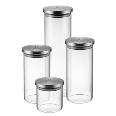 Kit Potes de Vidro Porta Mantimentos Herméticos 4 Unid Electrolux - In
