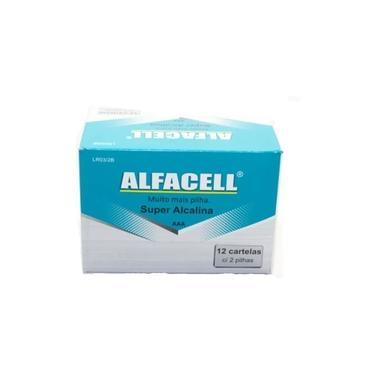 Caixa Pilhas Palito 3A Aaa Super Alcalinas AlfaceLl C/24 Atacado Oferta