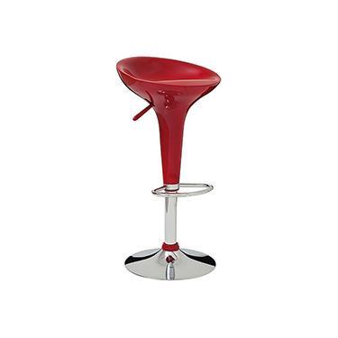 Banqueta Lótus com Assento em ABS Vermelha - Mor