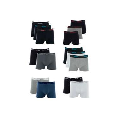 Kit 5 Cuecas Boxer Mash Algodão Cotton Box Original Oferta