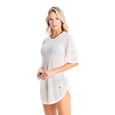 Vestido Curto Em Tule Maresia Branco/G