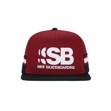 Boné Aba Reta Nike SB Cut - Snapback - Trucker - Adulto - Vinho Preto 1a38257d190