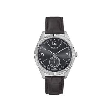 58826668274 Relógio Feminino Guess Brown And Silver-Tone Midsize Watch