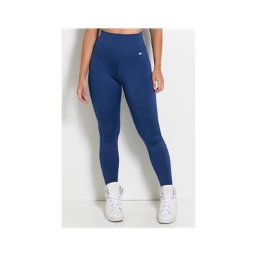 Calca Feminina Fitness Lisa Legging Azul Marinho