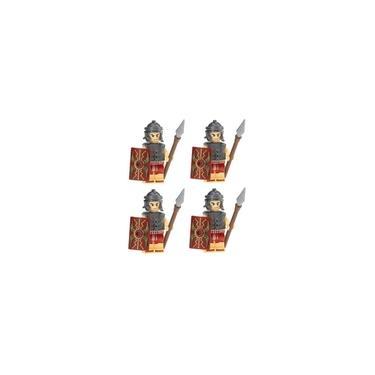 Imagem de Kit 4 Bonecos Soldados Roma Medieval Gladiatus Castle Lego