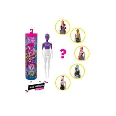 Imagem de Boneca Barbie Color Reveal Monocromática Estilo Surpresa GTR94 Mattel