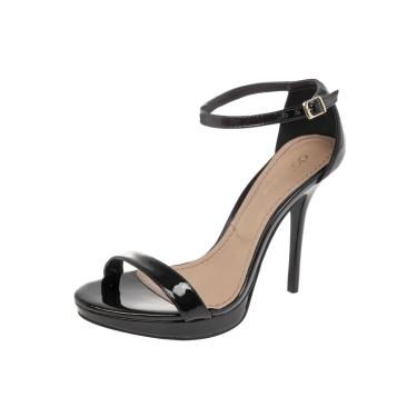 7c940d7650 Sandália DAFITI SHOES Verniz Preto Dafiti Shoes 5402540 feminino