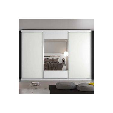 Guarda-roupa Casal 3 Portas E 4 Gavetas Milano – Móveis Europa - Branco  Acetinado 21d3898adf