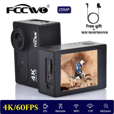 """Imagem de Original fccwoh9r ultra hd 4k/60fps eis câmera de ação wifi 2.0 """"170d subaquática à prova dveágua"""