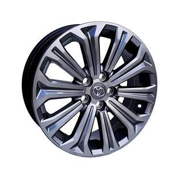 Jogo de Rodas Toyota Corolla Hibrido Aro 16 x 6,0 5x100 ET39 S22 Hybrid Grafite Diamantado