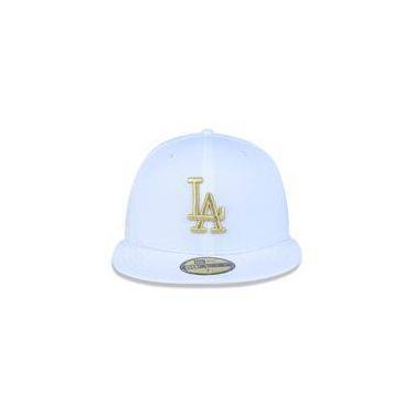 Bone 5950 Los Angeles Dodgers Mlb Aba Reta Branco New Era faf7a74bdcb