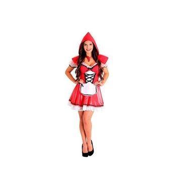 Imagem de Fantasia Chapeuzinho Vermelho Heat Girls Adulto Luxo