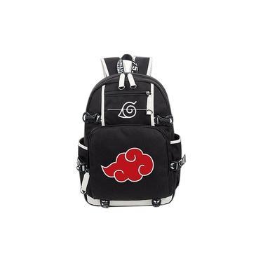 Imagem de Anime Naruto Akatsuki Red Cloud Mochila Escolar Shoulder Bag Mochila Cosplay Colecção