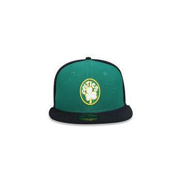 Bone 5950 Boston Celtics Nba Aba Reta Verde   Preto New Era 5865bf4ed68