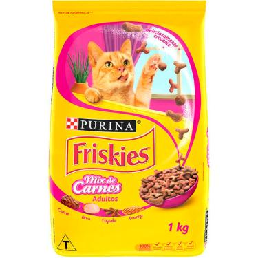 Ração Seca Nestlé Purina Friskies Mix de Carnes para Gatos Adultos - 1 Kg