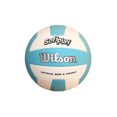 Bola De Vôlei Wilson Soft Play Celeste E Branco