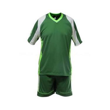 Uniforme Esportivo Texas 1 Camisa de Goleiro Florence + 7 Camisas Texas + 7 Calções - Verde x Branco x Limão