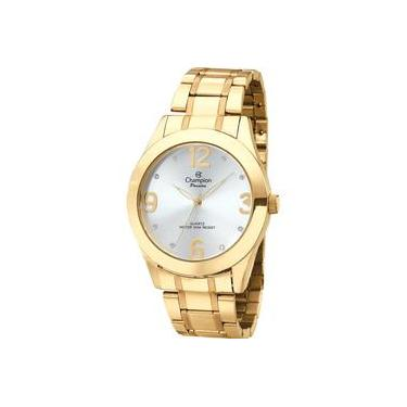 cf4ee391a56 Relógio Analógico Feminino Champion Social CH24268H Dourado - Pulseira de  Aço