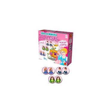 Imagem de Jogo da Memória Princesas em Madeira 40 Peças - Algazarra Brinquedos