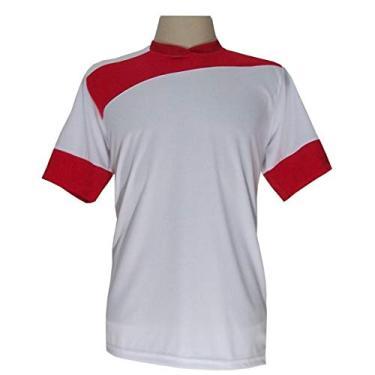 Imagem de Jogo de Camisa com 14 unidades modelo Sporting Branco/Vermelho + 1 Goleiro + Brindes