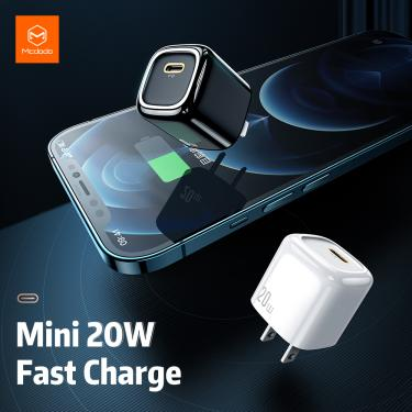 Mcdodo 20w pd ue/eua carregador usb carga rápida 4.0 tipo c portátil mini para iphone x 12 pro max