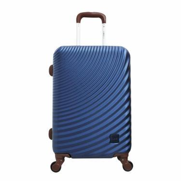 Mala Viagem Pequena ABS c/Rodinhas 360º Cadeado Azul Marinho Ys21039am