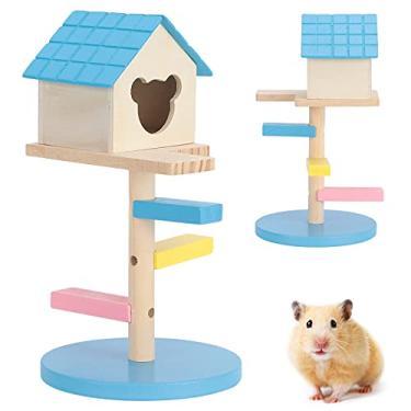 Imagem de Brinquedo de exercício para hamster, escadas, castelo de hamster, esconderijo para brincar de esconde-esconde (# 0, 1)