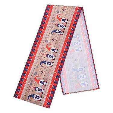 Imagem de NUOBESTY Toalha de mesa para dia da independência, 1 toalha de mesa para dia da independência, desenho animado decorativo para mesa - Padrão 2 |178 x 33 x 0,1 cm