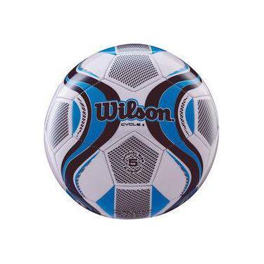 f483e3c7cd Bola de futebol de campo Cycle New N.5 Azul Branco Wilson