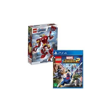 Brinquedo Lego Iron Man 76140 + Jogo Lego Marvel Super Heroes 2 - PS4