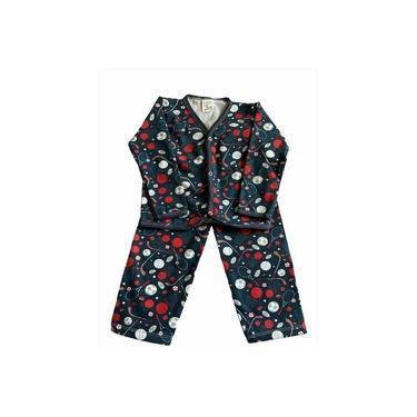 Pijama Infantil Flanela Estampado Menino Esportes Azul