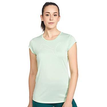 Imagem de Camiseta Active Logo Heather, Puma, Feminino, Verde Água, GG