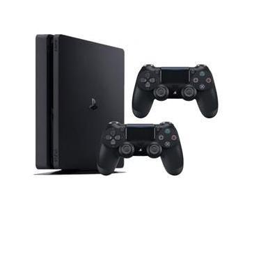 Console PS4 - Modelo Slim 1TB com 2 controles - Preto