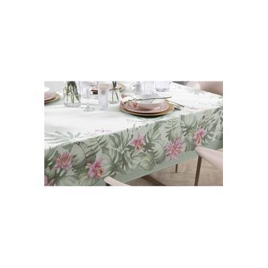 Imagem de Toalha de mesa Redonda 6 lugares - 1,78m - Jardina - sempre limpa - Karsten