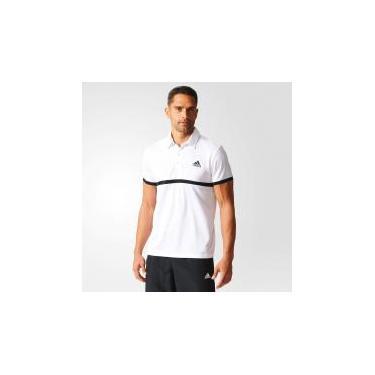 07bda52197 Camisa Masculina Adidas POLO COURT - Adidas - Branco Preto - P -