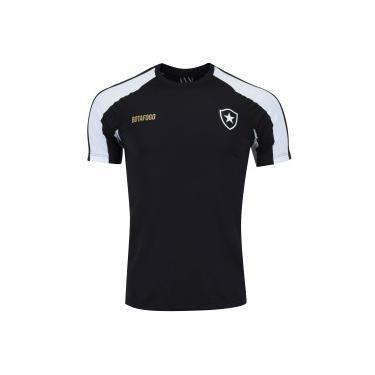 aa2ee4d0c3 Camiseta do Botafogo Base Raglan - Masculina - PRETO BRANCO Braziline