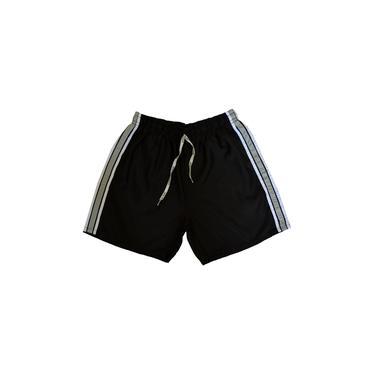 Shorts Microfibra Esporte Futebol Academia Com Bolso Traseiro Ref.192