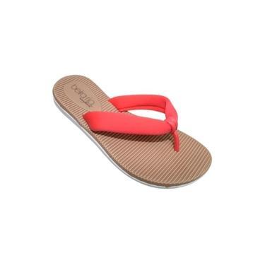 Chinelo Slide Feminino Casual Confortável Beira Rio 8395207 - Coral