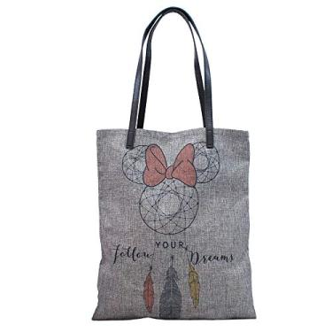 BOLSA MINNIE - FOLLOW UR DREAM, Disney, DMG9003AEMK6D, Cinza