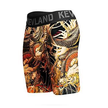 Imagem de cueca boxer long leg kevland dragon tattoo amarelo (1, M)