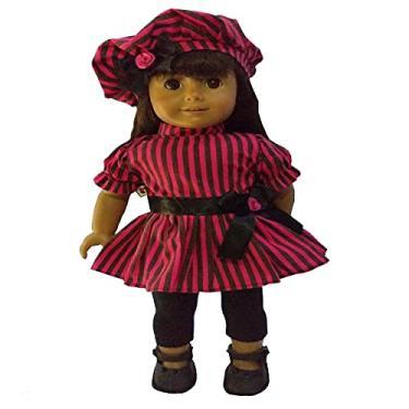 Imagem de Roupa para Boneca - Kit Conjunto Pink e Preto - Veste Bonecas tipo American Girl e Our Generation - Cantinho da Boneca