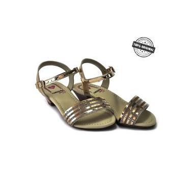 Sandalia Molekinha Metal Glamour - 2080753
