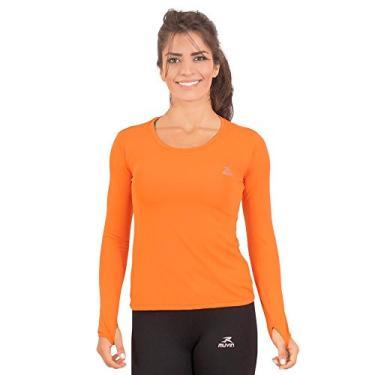Camisa Running Performance G1 Uv50 Ls/hc - Muvin - Clr-400 - Laranja - Eg