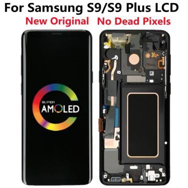 Original super amoled display para samsung galaxy s9 g960 display lcd digitador da tela de toque s9