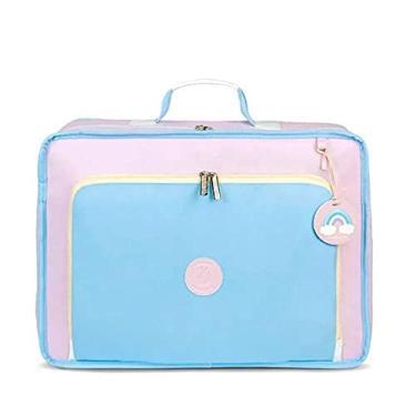 Imagem de Mala vintage colors azul e rosa mb